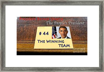 Number 44 - The Winning Team Framed Print