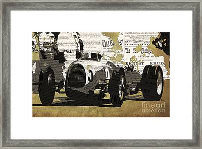 Number 5 Race Car To Pits Framed Print by Pablo Franchi