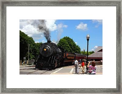 Number 734 At Frostburg Station Framed Print by James Brunker