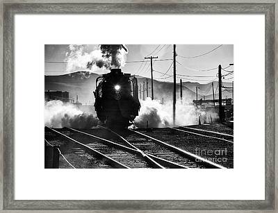 Framed Print featuring the photograph Number 844 Pulling Out by Vinnie Oakes