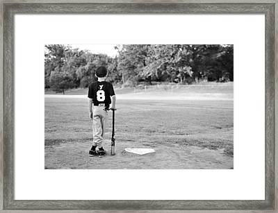 Number Eight  Framed Print by Malania Hammer