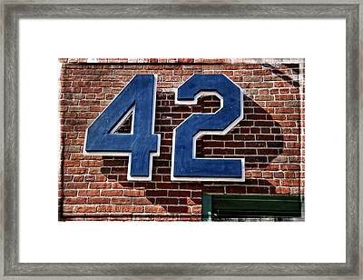 Number Forty Two Framed Print by Alice Gipson