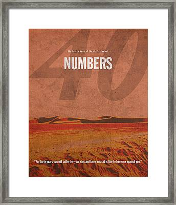Numbers Books Of The Bible Series Old Testament Minimal Poster Art Number 4 Framed Print by Design Turnpike
