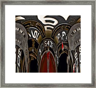 Numbers Game Framed Print by Murray Bloom