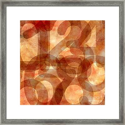 Framed Print featuring the digital art Numbers Set by Mohamed Elkhamisy