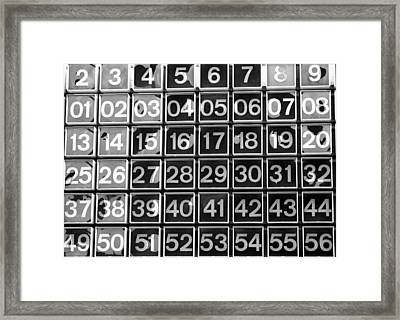Numbers Framed Print