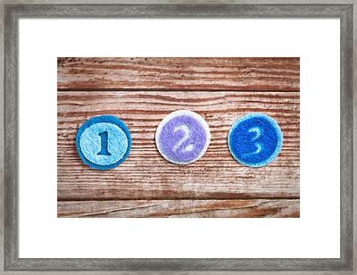 Numbers Framed Print by Tom Gowanlock
