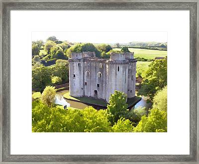 Nunney Castle Painting Framed Print