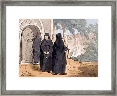 Nuns, 1804 Framed Print by John Augustus Atkinson