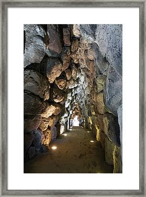 Nuraghe Interior Framed Print by Dr Juerg Alean