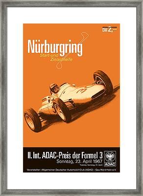 Nurburgring F3 Grand Prix 1967 Framed Print by Georgia Fowler