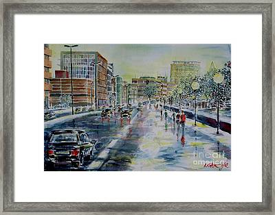 Framed Print featuring the painting Nuremberg Frauentorgraben by Alfred Motzer