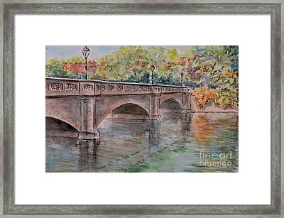 Framed Print featuring the painting Nuremberg Maxbruecke by Alfred Motzer