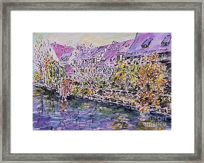 Nuremberg Northern Riverside Of Pegnitz Framed Print