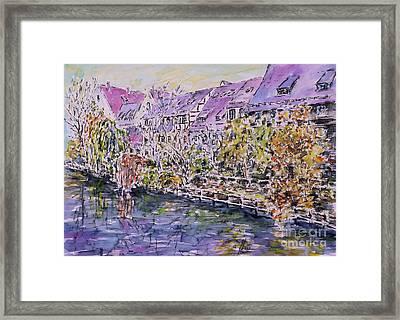 Nuremberg Northern Riverside Of Pegnitz Framed Print