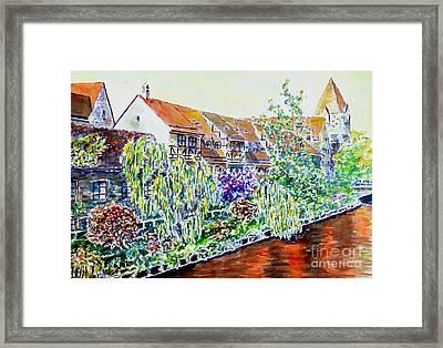 Nuremberg Pegnitz Riverside Framed Print