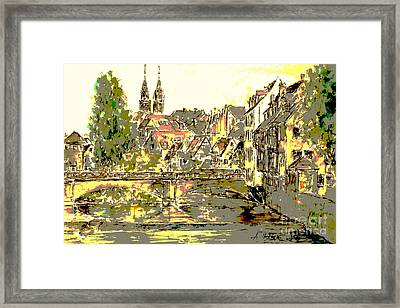 Nuremberg View To St.laurence Church Framed Print by Almo M