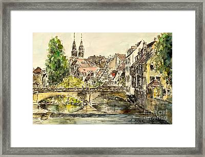 Framed Print featuring the painting Nuremberg Watching St.laurence Cathedral by Alfred Motzer