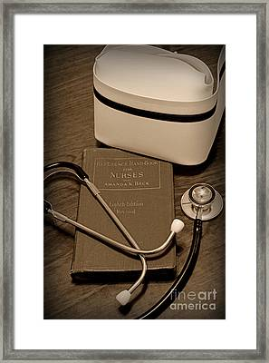 Nurse - The Care Giver Framed Print by Paul Ward