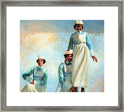 Nurse's Holiday Framed Print by Kevin Lawrence Leveque