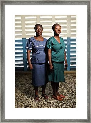 Nurses In Sierra Leone Framed Print by Matthew Oldfield