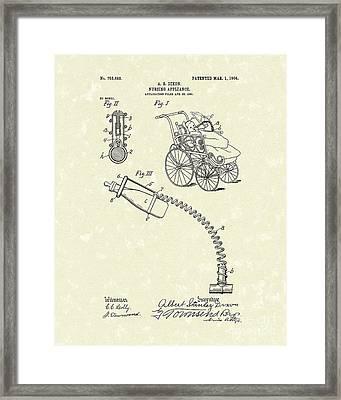 Nursing Aid 1904 Patent Art Framed Print