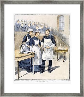 Nursing School, 1885 Framed Print by Granger