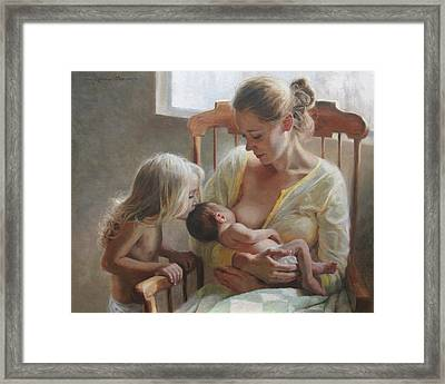 Nurturer Framed Print by Anna Rose Bain