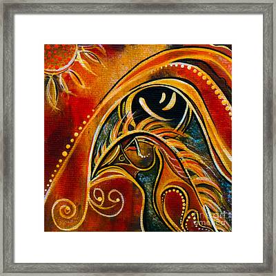Nurturer Spirit Eye Framed Print by Deborha Kerr