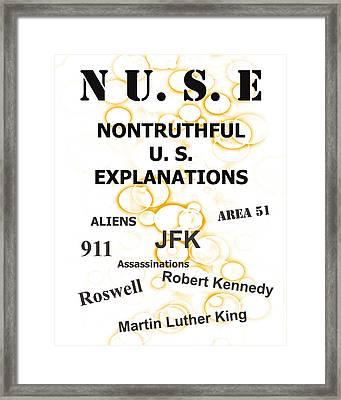 Nuse Book Cover    Framed Print
