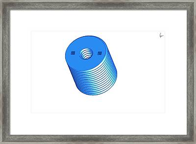 Nut 3d -- Mechanical Brick Framed Print by Pop Horea-Vasile