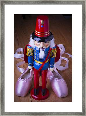 Nutcracker And Ballet Shoes Framed Print by Garry Gay
