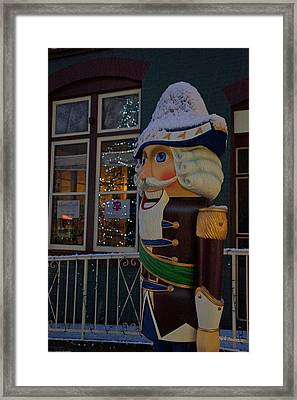 Nutcracker Statue In Downtown Grants Pass Framed Print by Mick Anderson
