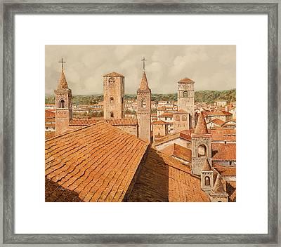 Alba Framed Print by Guido Borelli