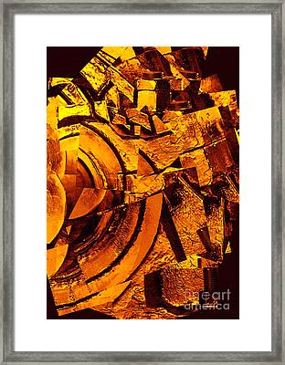 Nuts And Bolts Abstract Framed Print by Carol Groenen