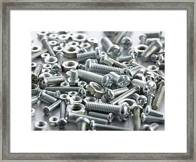 Nuts And Bolts Framed Print by Science Photo Library