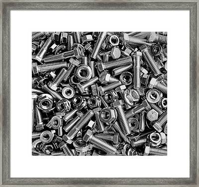 Nuts And Bolts  Waterloo, Quebec, Canada Framed Print