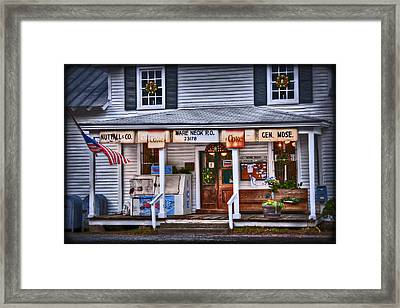 Nuttall And Company General Merchandise Framed Print