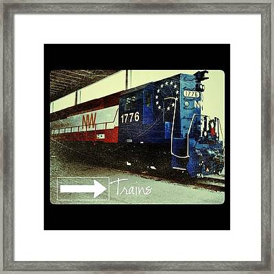 Nw Locomotive #1776 #phonto #altphoto Framed Print