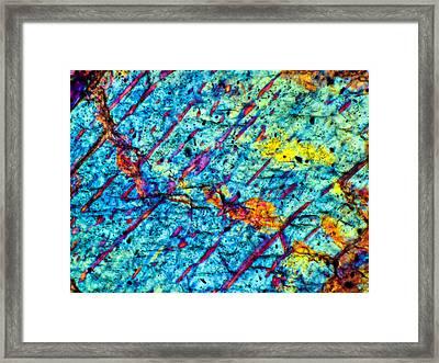 Nwa 6386 Dioginite 160x Framed Print by Tom Phillips