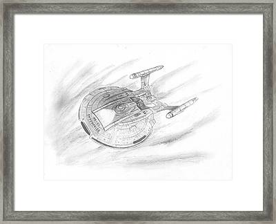 Nx-01 Enterprise Framed Print by Michael Penny