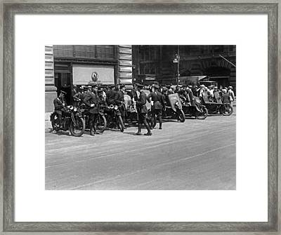 Ny Armored Motorcycle Squad  Framed Print