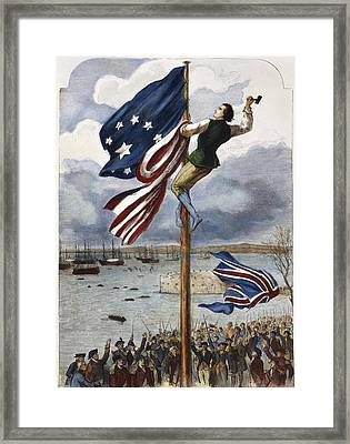 Ny: British Evacuation Framed Print