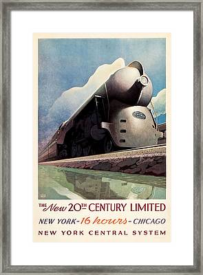 Framed Print featuring the photograph Ny Central System by Allen Beilschmidt