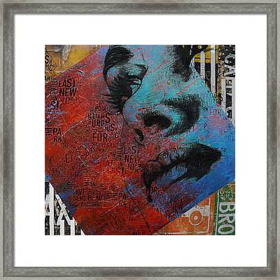 Ny City Collage - 8 Framed Print by Corporate Art Task Force