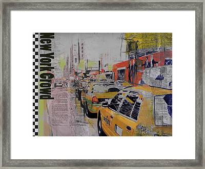 Ny City Collage 2 Framed Print by Corporate Art Task Force