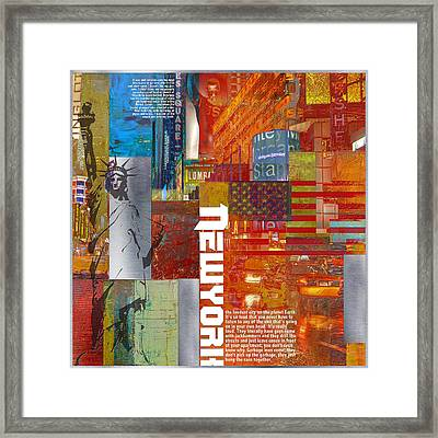 Ny City Collage 3 Framed Print by Corporate Art Task Force