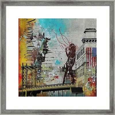 Ny City Collage 4 Framed Print by Corporate Art Task Force