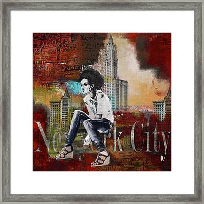 Ny City Collage 5 Framed Print