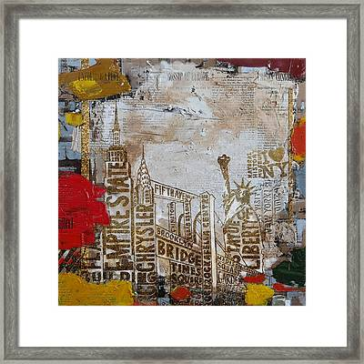 Ny City Collage 7 Framed Print